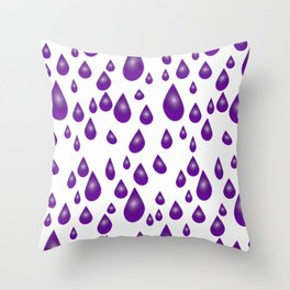 Purple Raindrops Throw Pillow
