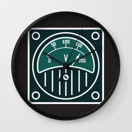 Technical illustrations with new modern design Wall Clock