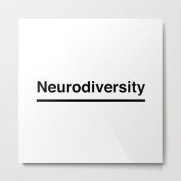 Neurodiversity Metal Print