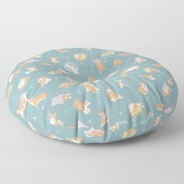 Corgi Day After Night Party With Fairies Floor Pillow
