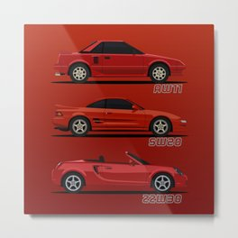 MR2 Generations Metal Print