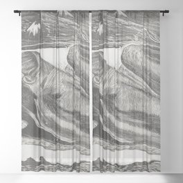 She Thinks of the Ghost or The Ghost Thinks of Her (Manao tupapau) from the Noa Noa Suite (1921) by Sheer Curtain