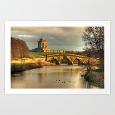 Castle Howard - New River Bridge and Mausoleum Art Print