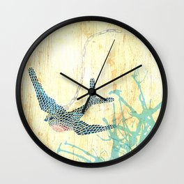 Birds of blue Wall Clock