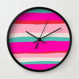 Candy Stripe Christmas Wall Clock