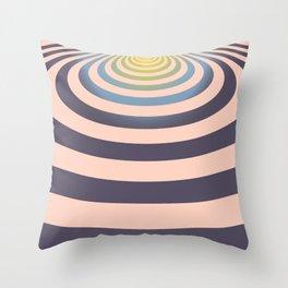Circle around asymmetrically - Optical game Throw Pillow