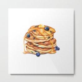 Pancake Stack - Breakfast Food Metal Print