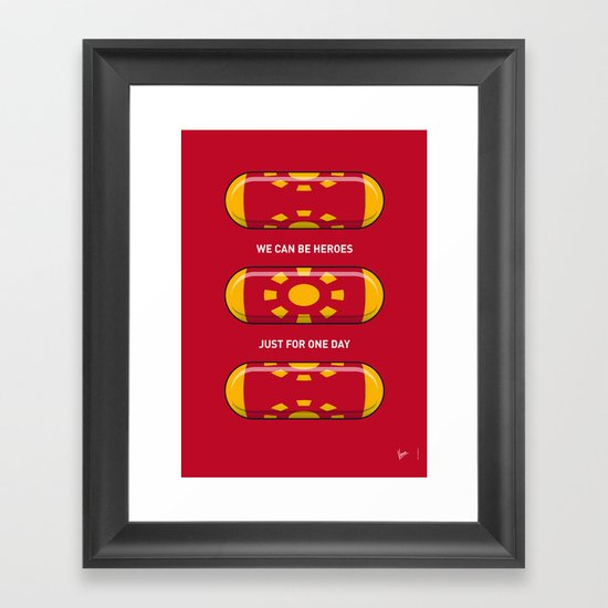My SUPERHERO PILLS - Iron Man Framed Art Print