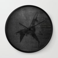 blade runner Wall Clocks featuring Blade Runner by javier millan