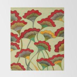 Poppies (warm) Throw Blanket