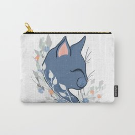 Happy Cat In The Springtime Garden Carry-All Pouch