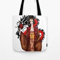 mulan Tote Bags featuring Mulan by artwaste