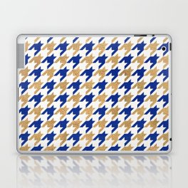 Houndstooth – Navy & Gold Palette Laptop & iPad Skin