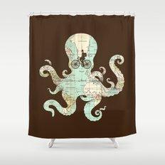 All Around The World Shower Curtain