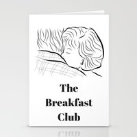 the breakfast club Stationery Cards featuring The Breakfast Club  by Luster