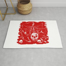 Beast With Skull Face Rug