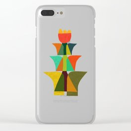 Whimsical bromeliad Clear iPhone Case