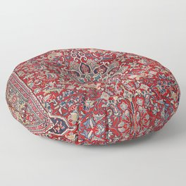 Fine Persia Bijar Old Century Authentic Colorful Red Blue Yellow Vintage Patterns Floor Pillow