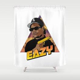 Eazy Retro Art Shower Curtain