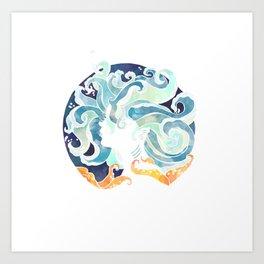 Water has no shape Art Print