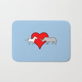 Unicorn Loves Rhino Bath Mat
