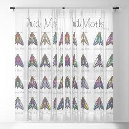 Pride Moths Sheer Curtain