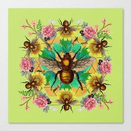 Bee Mandala Canvas Print
