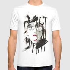 the Ghost MEDIUM Mens Fitted Tee White