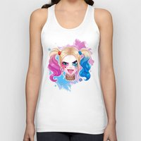 harley Tank Tops featuring Suicide Harley by Awdrey