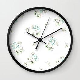 Vintage Bloom White Wall Clock