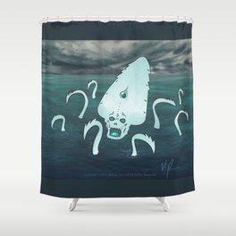 Dangers of the Deep Shower Curtain