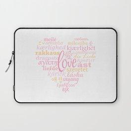 Love in Multi-Language Laptop Sleeve