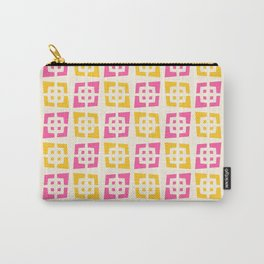 Mid Century Modern Pattern 273 Pink and Yellow Carry-All Pouch