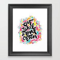 EAT & TRAVEL Framed Art Print