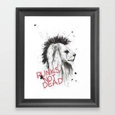 punks not dead Framed Art Print