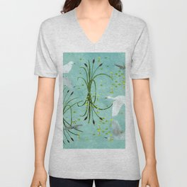 little egrets Unisex V-Neck
