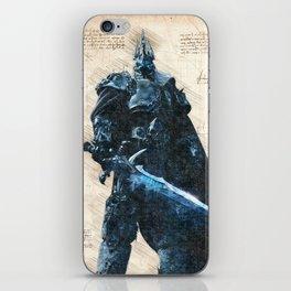 Arthas Lich King wow da vinci style sketch iPhone Skin