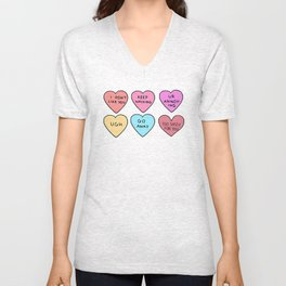 Tumbl-r Hearts. Unisex V-Neck