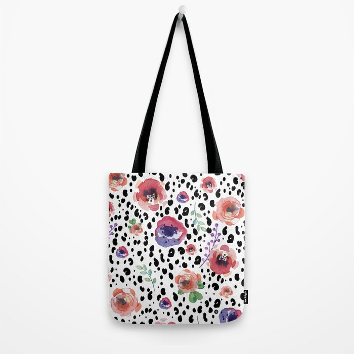 Abstract animal flowers Tote Bag