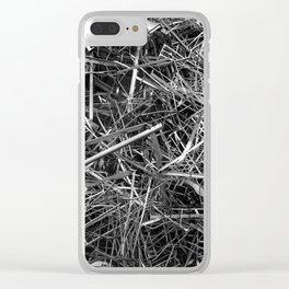 metal line Clear iPhone Case