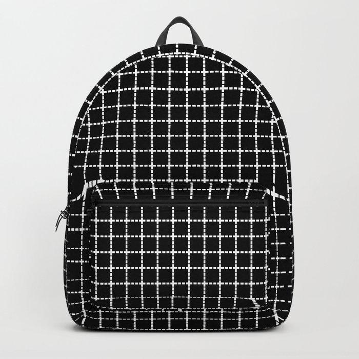 Dotted Grid Black Backpack