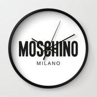 moschino Wall Clocks featuring Moschino Milano by Joannes