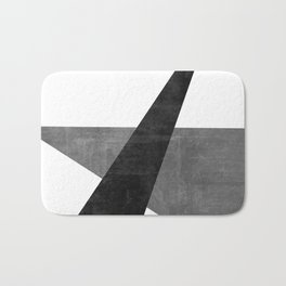 Ambitious No. 2   Abstract in Blacks + Grays Bath Mat