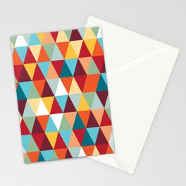 Geometric Color #abstract #bright #triangles Stationery Cards