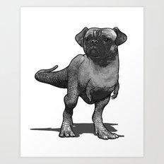 Pugussaurus Rex Art Print