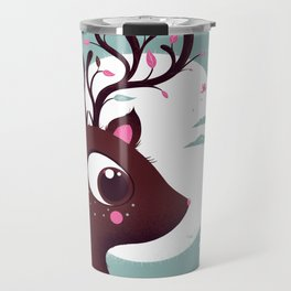 la biche et l'oiseau Travel Mug