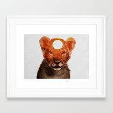 Lion Cub Framed Art Print