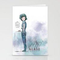 nurse Stationery Cards featuring Nurse  by Ginkelmier