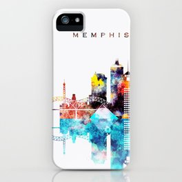 Colorful Watercolor Memphis Skyline iPhone Case