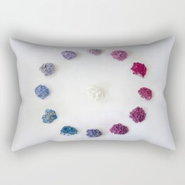 Circle of Hydrangea Rectangular Pillow
